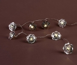 IP20 Indoor Metal Flower Fairy Lights  10 Warm White LEDs