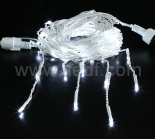 Outdoor LED Icicle Lights Conectable   Black/White/Green PVC Cable