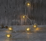 Battery Fairy Lights   10 Warm White LEDs    Clear PVC Cable