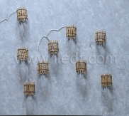 Battery/Solar Wood Fairy Lights    15 Warm White LEDs