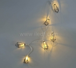 Metal Fairy Lights   10 Warm White LEDs   Clear PVC Cable