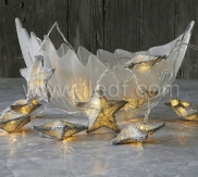 Battery Flax Star Fairy Lights   10 Warm White LEDs For Chiristmas