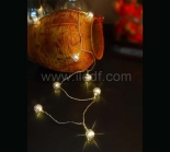 Battery Metal Ball Fairy Light  10 Warm White LEDs