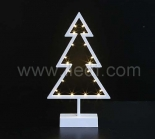 Chirtmas Plastic Tree With Wam White LEDs