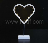 Battery Plastic Heart Light With Warm White LEDs