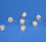 LED Acrylic Brick Fairy Lights.20 Warm White LED. PVC Cable
