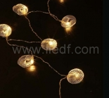 IP20 Indoor Battery Metal Conch Fairy Light   10 Warm White LEDs