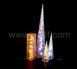 LED PVC LASER TOWER White Warm white/White LEDS