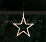Plastic Star Silhouette With Warm White LEDs