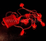 IP20 Indoor Battery Acrylic Heart Fairy Light   10 Red LEDs