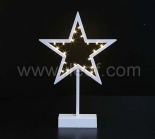 Battery Plastic Star Light With Warm White LEDs