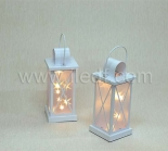 Outdoor Battery Laser Lantern With Warm White Copper Wire Light