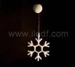 Outdoor Christmas Snowflake Hanging Lights    Warm White LED