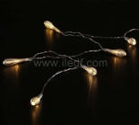 IP20 Indoor Battery Metal Bowling Fairy Light   10 Warm White LEDs
