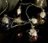 Indoor Battery Metal Star Fairy Light   10 Warm White LEDs