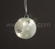 Indoor Hanging Christmas Ball Light With Warm White LEDs