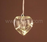 Indoor Hanging Heart Light For Christmas With Warm White LEDs