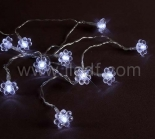 IP20 Indoor Battery Acrylic Flower Fairy Light  10 White LEDs