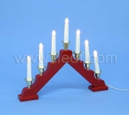 Indoor Wooden Candlesticks With 7 Warm White LEDs