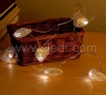 Battery Metal Star Fairy Light For Christmas  10 Warm White LEDs