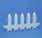 Indoor Plastic Led Candlesticks With 5 Warm White LEDs