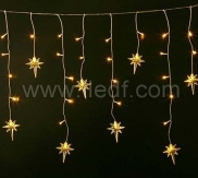 Outdoor Christmas Snowflake Icicle Lights   Warm White LEDs