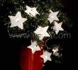 Battery White Star Fairy Lights With 10 White LEDs