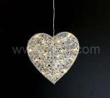 INdoor Metal Heart Hanging Light   Clear PVC Cable
