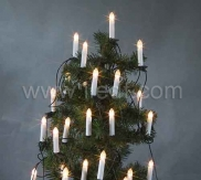 Outdoor Transformer Candle String, Warm White LEDs