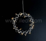 Indoor 25cm Christmas Wreath With 20 Warm White LEDs