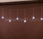 Outdoor Christmas Snowflake Curtain Lights    White LEDs