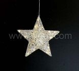 Indoor Metal Star Hanging light With Warm White LEDs