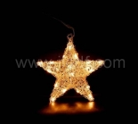 Indoor Acrylic Star Hanging Light With 20 Warm White LEDs