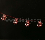 Indoor Acrylic Snowman Fairy Light    19 Red LEDs   Red Wire