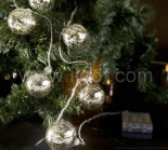 Indoor Battery Metal Ball Fairy Light With Warm White LEDs