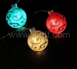 Battery Multi Color Glass Ball Fairy Light With 10 Warm White LEDs
