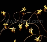 Outdoor Acrylic Star Fairy Light With Warm White LEDs