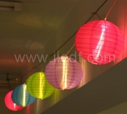 Indoor Transformer Chinese Lanterns With Copper Wire LEDs