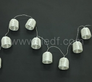 Battery Rattan Cage Fairy Lights,10 Warm White LED. Clear Cable