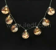 Battery Glass Ball Fairy Lights,10 Warm White LED. Clear Cable
