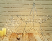 LED Battery  Motif Light , IP20 Indoor Star Copper Wire Light