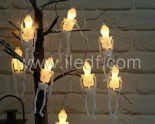 Battery Fairy Lights For Halloween , Skeleton Light String