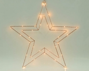 IP20 Indoor LED Battery Motif Light , Metal Star Light