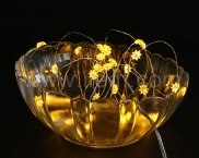 Copper Wire Battery Fairy Lights for Easter , 10 Warm White LEDs