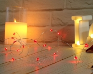 IP20 Indoor LED Battery Copper Wire Fairy Light For Valentine