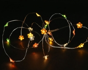 Copper Mico Naked Wire Battery Flower Fairy Lights