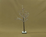 IP44 LED Tree With Red Fruit and Snow , Warm White Light